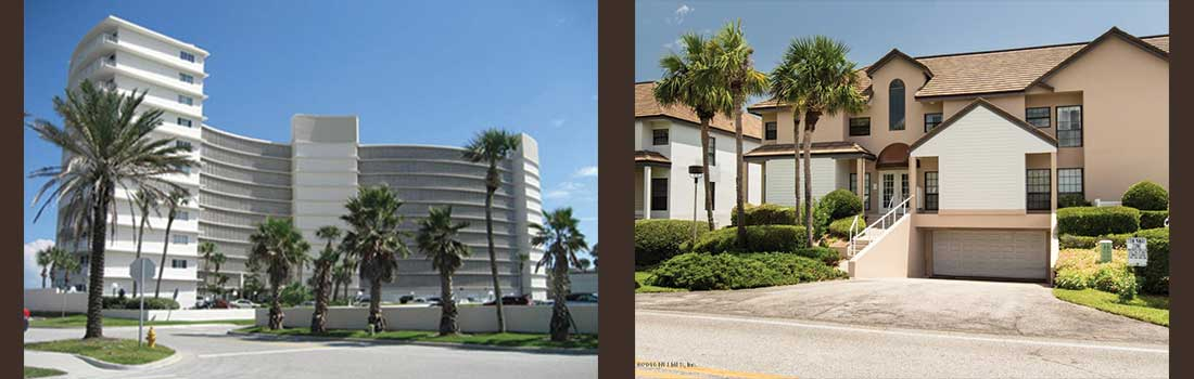 Ocean front condos in Jacksonville beach and South Ponte Vedra Beach Florida